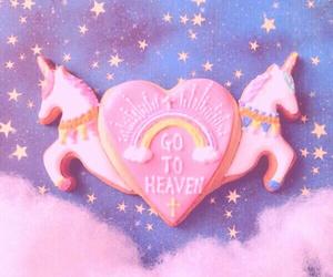 pastel, unicorn, and cookie image