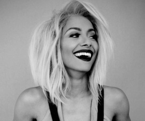 kat graham, smile, and blonde image