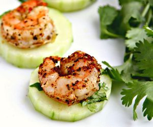 cucumber, delicious, and shrimp image