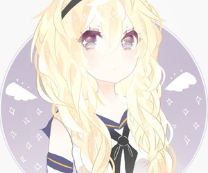 Anime girl with long blonde hair