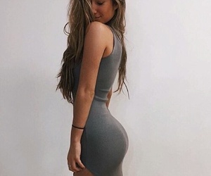 blonde, body, and dress image