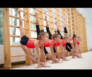 gymnastics, flexibility, and red image