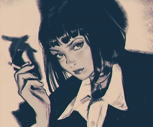 pulp fiction, mia wallace, and art image