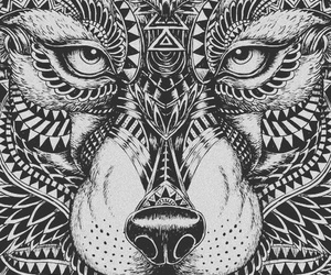 mandala and wolf image
