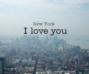city, new york, and love image