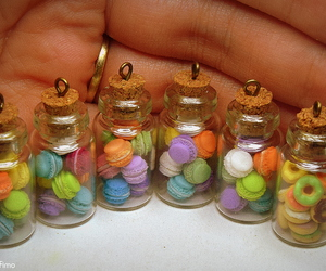 bottle, fimo, and macaroon image