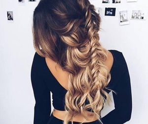 blonde, hairstyle, and hair goals image