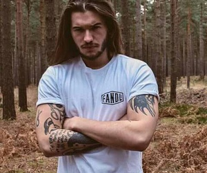 body, forest, and tattoo image