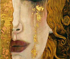 art, gold, and Gustav Klimt image