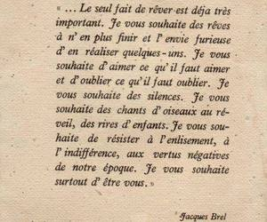 french, jacques brel, and quote image
