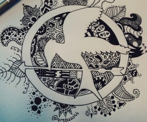 mockingjay, sinsajo, and drawing image