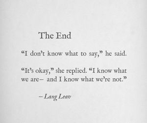 quotes, the end, and Lang Leav image
