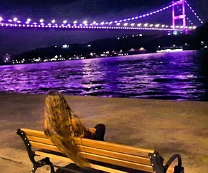 alone, istanbul, and gece image