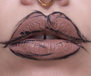 lips, makeup, and art image