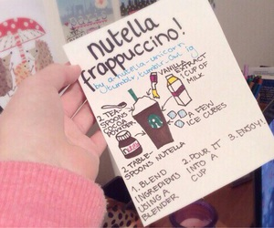 nutella, diy, and frappuccino image