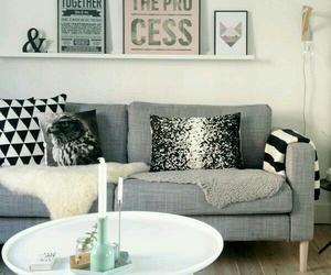frames, interior design, and grey image