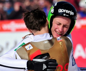 ski jumping and peter prevc image