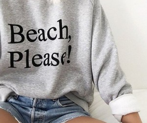 beach, outfit, and please image