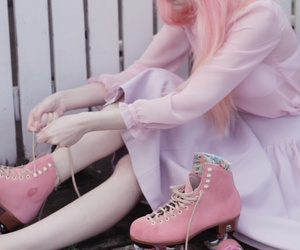 pink, girl, and pastel image