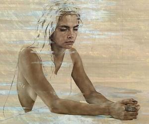 art, portrait, and cara delevigne image