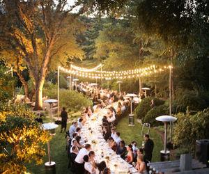 wedding, lights, and dinner image