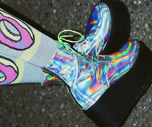 grunge, shoes, and donuts image