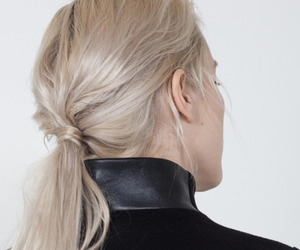 hair, blonde, and black image