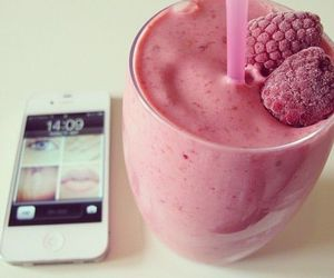 food, smoothie, and tech image