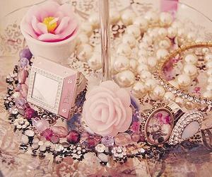 pink, pearls, and vintage image