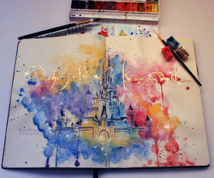 disney, art, and castle image