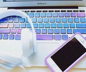 iphone, apple, and purple image