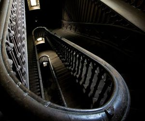 stairs, dark, and architecture image