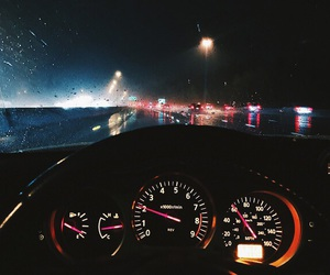 car, night, and light image