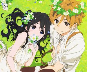anime, tamako market, and couple image