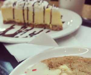 cheesecake, Cookies, and food image