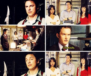 eve myles, john barrowman, and burn gorman image