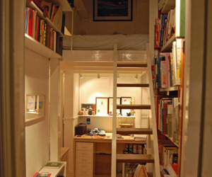house, books, and home image