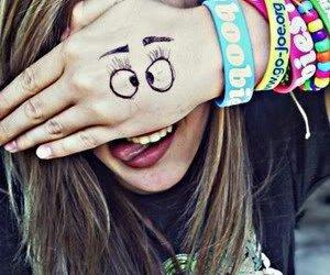 :p, eye, and smile image
