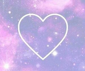 galaxy, heart, and wallpaper image