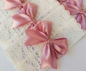baby, white, and bow image
