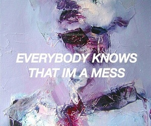 quotes, grunge, and mess image