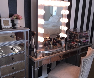 makeup, vanity, and girly image