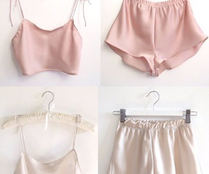 pink, silk, and clothes image
