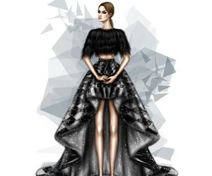 dress, black, and drawing image