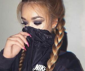 nike, nails, and makeup image