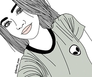 girl, outline, and alien image