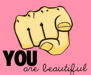 beautiful, you, and pink image