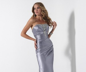dress, party, and ball gown image