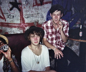boy, indie, and cigarette image