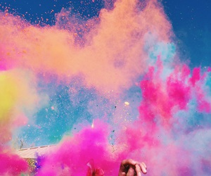 colors, hand, and pink image